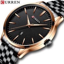 Watch Man New CURREN Brand Watches Fashion Business Wristwatch with Auto Date Stainless Steel Clock