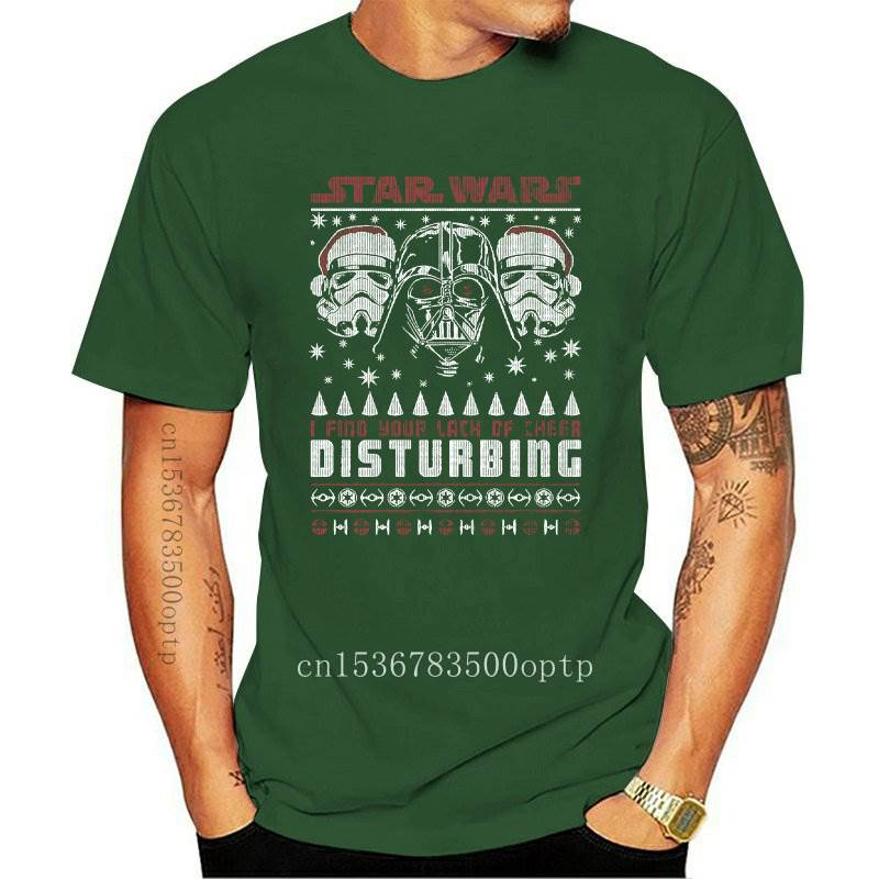 New s Mens Christmas I Find Your Lack Of Cheer Disturbing Shirt 2021 S(1)