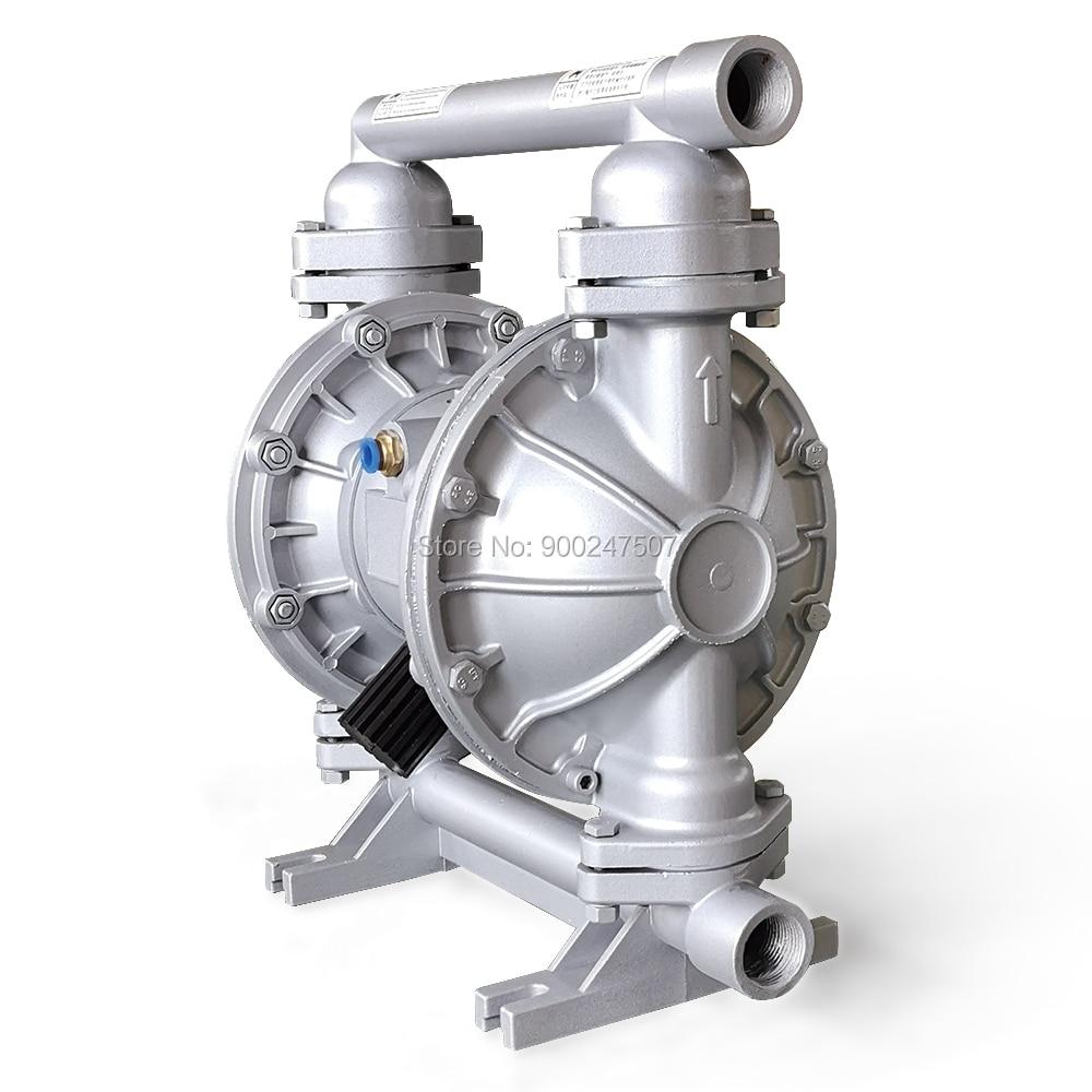 مضخة كيميائية تعمل بالهواء مضخات غشائية مزدوجة 1/2 ''57L/دقيقة 15GPM الهوائية سبائك الألومنيوم السائل مضخة الوقود معالجة المياه