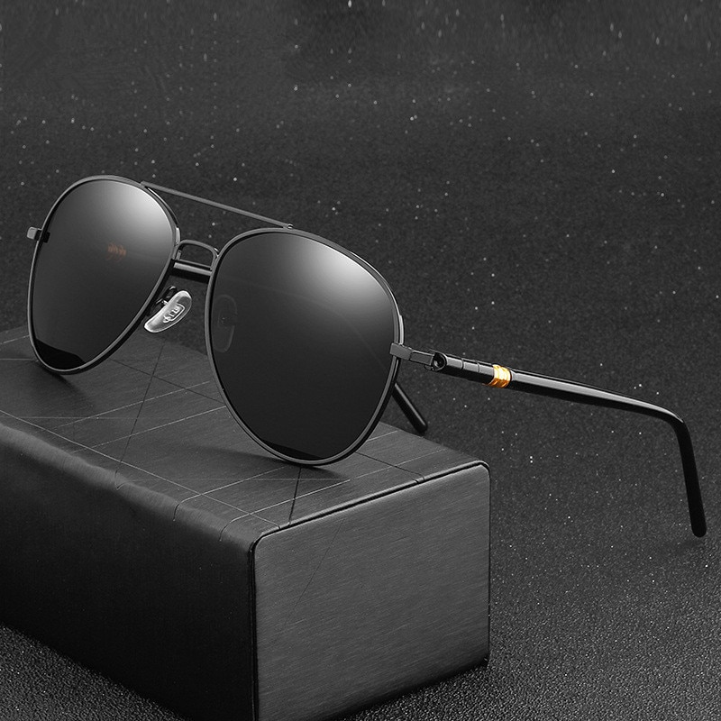 Classic Sunglasses Polarized Men Driving Glasses Black Pilot Sun Glasses Brand Designer Male Retro S