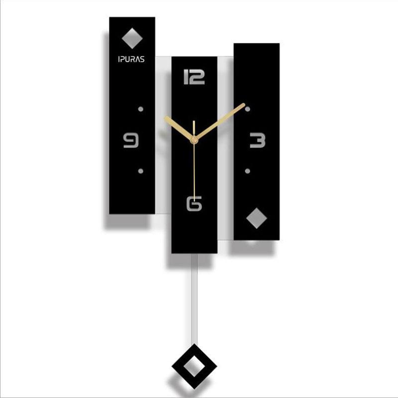 Новые Настенные часы кварцевые северные часы с маятником большой размер настенные часы современный дизайн для украшения дома большой Duvar Saati Декор