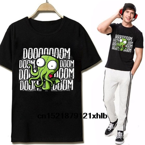 Men T shirt Cthulhu Funny Boy Top Harajuku Design Cartoon funny t-shirt novelty tshirt women