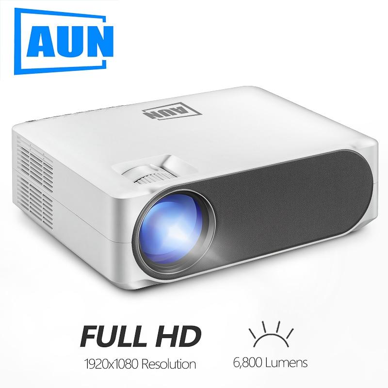 AUN-AKEY6/S Full HD Projector ، 1920*1080P ، 6800 lumens ، نظام الوسائط المتعددة AC3 ، LED للسينما المنزلية 4K 3D