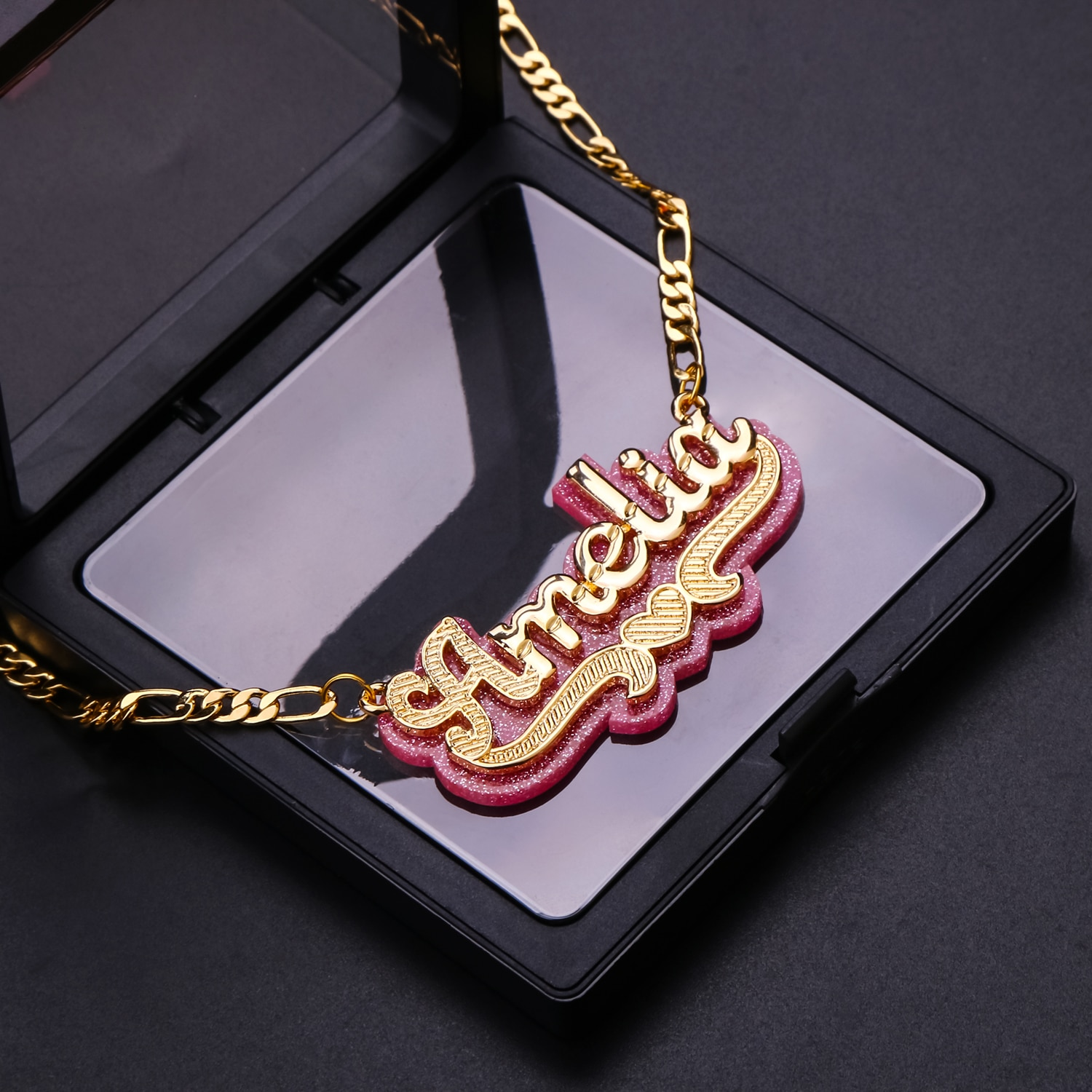 Customized Name Necklace Personalized Acrylic Letter With Name Custom Name Necklaces Pendants Jewelry Nameplate Chain Women Gift wholesale rose name necklace with crystal decoration personalized silver nameplate pendent celebrity party jewelry gift