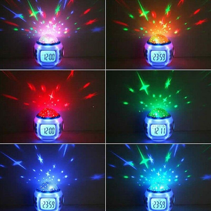 Horloge numérique lumineuse pour chambre enfants   7 couleurs, affichage de la température, numérique, changement de couleur, horloge électronique changeante