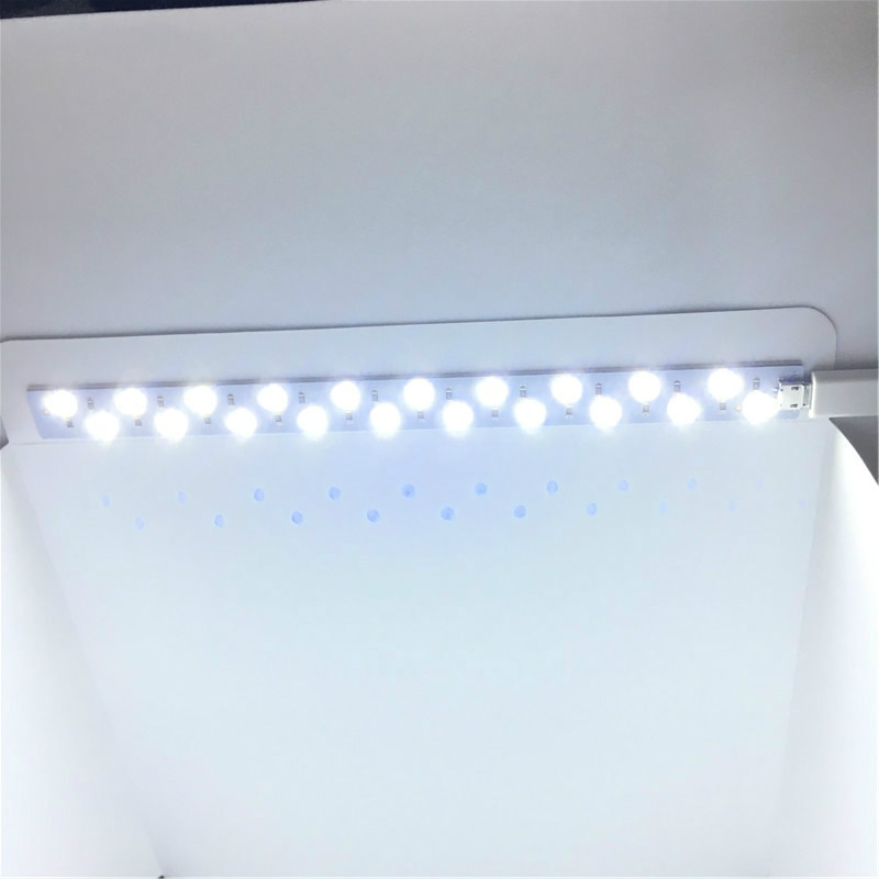 Tira de luz LED para caja de fotos de 20cm 35cm para caja de estudio fotográfico la materia prima de la luz Led para accesorios de estudio de caja de fotografía