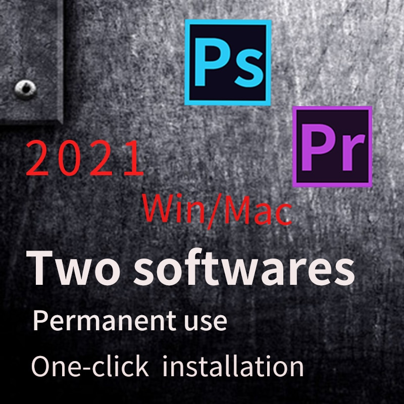 Premiere Pro 2021 genuine act and Photoshop 2021 software combination, genuine activation and permanent use for Windows and Mac