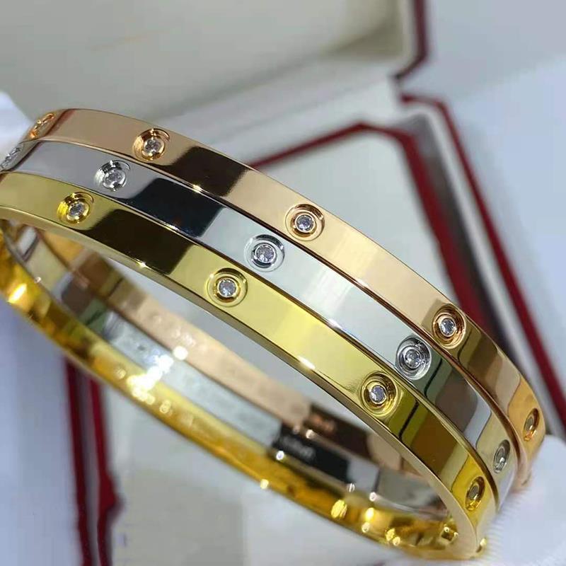 DIMINGKE S925 Sterling Silver 18K Gold Bracelet 17CM Fine Jewelry Fashion Woman Party