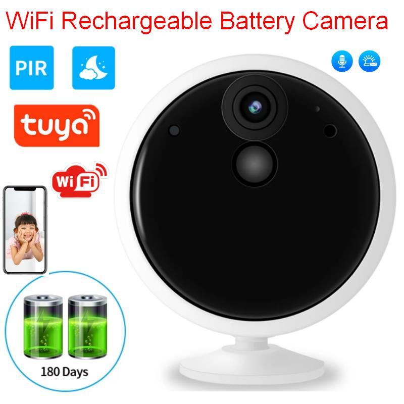 2021 Tuya 1080P Smartlife App بطارية لاسلكية واي فاي الأمن كاميرا منزلية 2MP HD PIR كاميرا مراقبة بالدوائر التليفزيونية المغلقة الإخطار الذكي