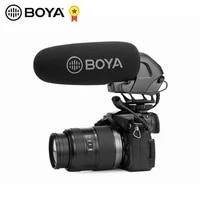 boya by bm3032 shotgun condenser microphone gain pass filter super cardioid for canon nikon dslr camera camcorder audio recorder