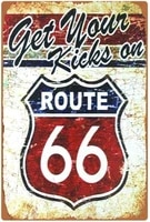 aiqibao metal vintage tin sign decor route 66 for grage bar pub shop funny retro wall art sign 12x 8route 664