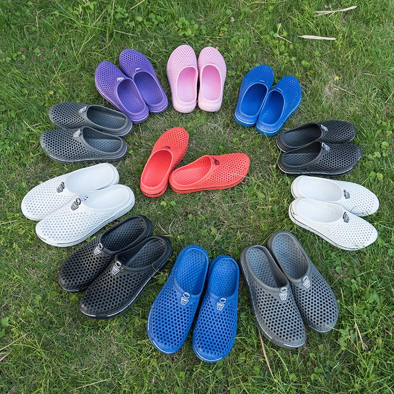 Женские и мужские сандалии; Летние шлепанцы; Прозрачная обувь для плавания; Обувь с перфорацией; Повседневная обувь для мужчин и женщин в зе...