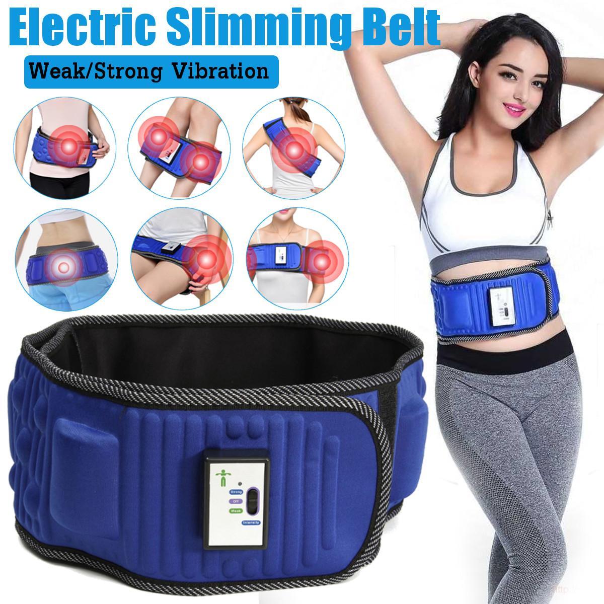 Cinturón de adelgazamiento eléctrico, masaje de entrenamiento de pérdida de peso X5 veces que estabiliza la vibración Abdominal, estimulador muscular de la cintura del vientre
