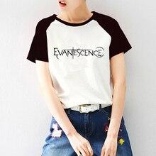 evanescence t shirt print raglan short sleeve custom women cotton customized kawaii tshirt dropshipping tees tops diy clothes