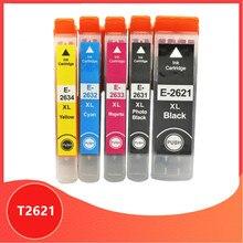 Cartouche Dencre Compatible T2621 E2621 T2631 26XL pour Epson XP510 XP520 XP600 XP605 XP615 XP620 XP625 XP710 XP720 XP800 XP810