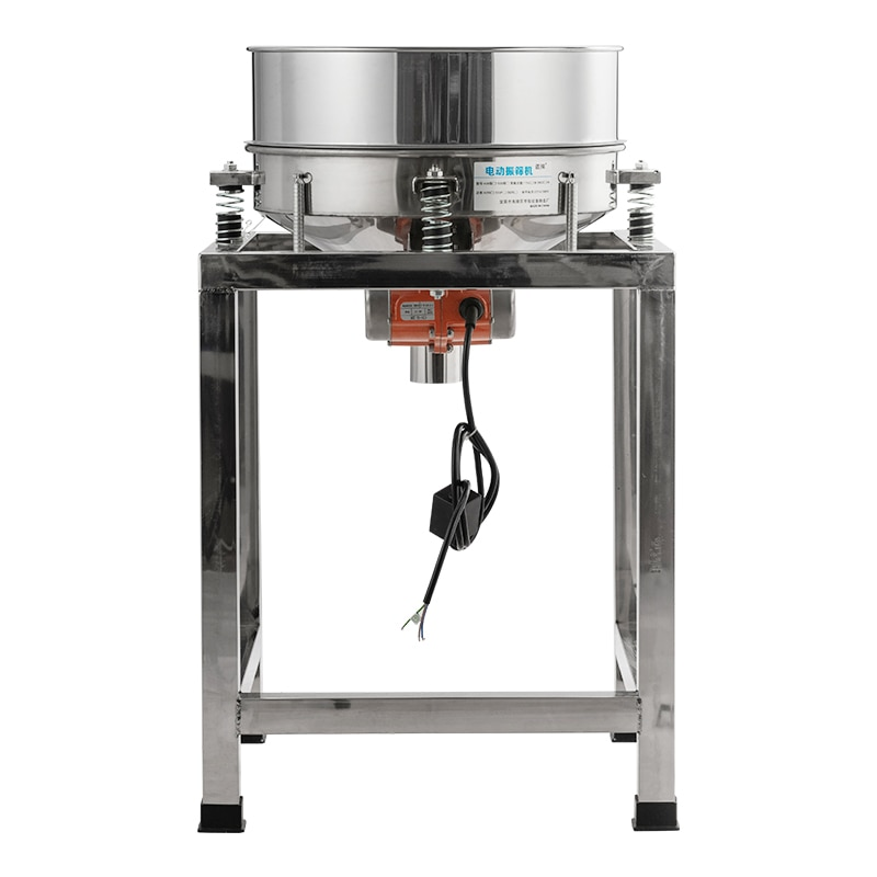 ماكينة غربلة للغربلة ودقيق الحبوب بالاهتزاز الكهربائي بقطر 40 سنتيمتر