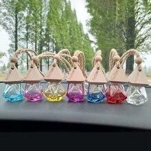 Car Perfume Pendant Auto Air Freshener Bottle Ornament Glass Clear Refillable Fragrance Bottle For P