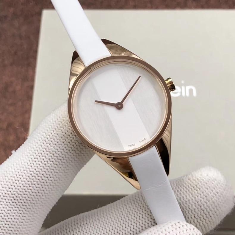 Fashion  Women's Stainless Steel Quartz Watch with Leather Strap, White,  K8P231L1, K8P237U,K8P231C1,K8P231L6 enlarge