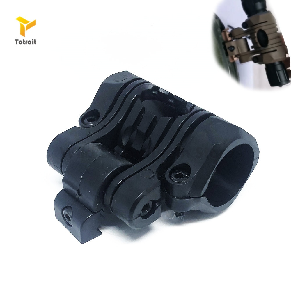 25mm 5 Position Tactical Helmet Flashlight Holder Torch Clip Mount Rail Clamp For Picatinny 20mm Rail