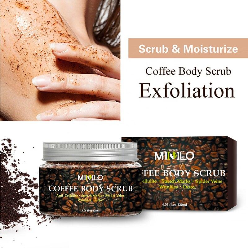 Gel Exfoliante para el cuerpo, crema Exfoliante para café, blanqueamiento hidratante, tratamiento...