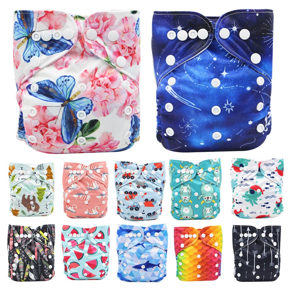 Baby diapers panties,Baby diapers, toddler pants, washable cloth diapers, new printing, leak-proof, breathable, baby adjustable