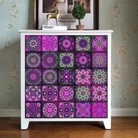 Bandes de Mandala colorees 10 15 20 30cm  autocollants muraux pour salle de bains  cuisine  ceramique  decor  papier peint