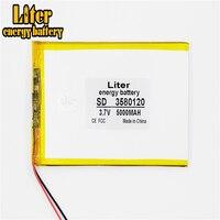 Liter energy battery 3.7V 3580120 5000MAH Li-ion battery for tablet pc 7 inch 8 inch 9inch Tablet Battery inner