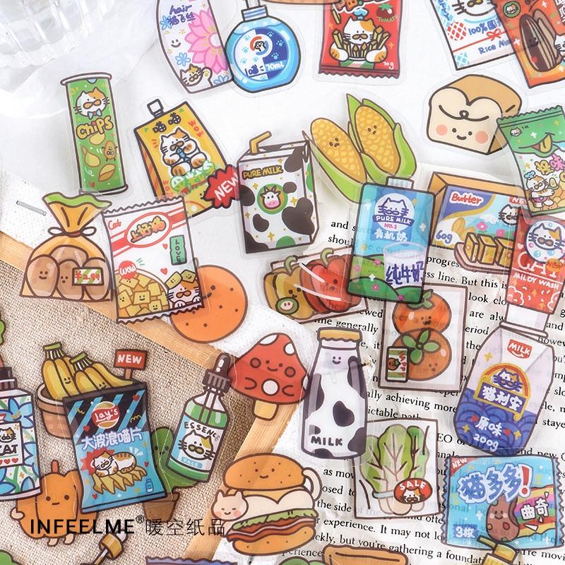 40-unids-pack-24-horas-tienda-alimentos-cuaderno-diario-de-la-etiqueta-engomada