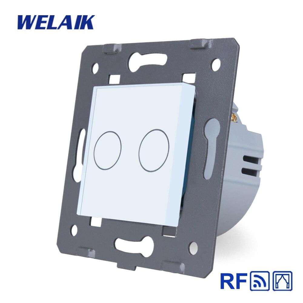 WELAIK EU RF persianas-Panel de cristal-toque de pared-Interruptor de control remoto cortina-Interruptor táctil-DIY-piezas AC250V A923CLW