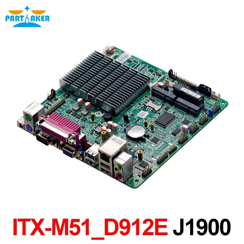 Participante ITX-M51_D912E j1900 dupla edp mini itx placa-mãe dc 12 v com lpt mini pcie