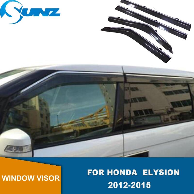 Side Window Deflector For Honda Elysion  2012 2013 2014 2015 Smoke Window Visor  Weather Shield Rain Guards SUNZ