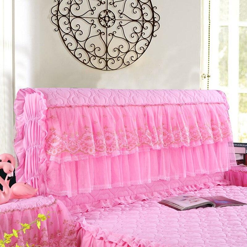 أفضل التفاف كامل غطاء السرير الدانتيل القطن لقط سميكة حقيبة جلدية لينة واقية على الغبار