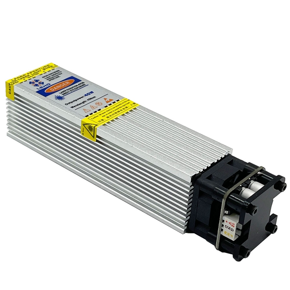 450nm 40W Laser Module Laser Head Fixed Focus Fast Engraving Suitable for CNC Engraving Machine enlarge