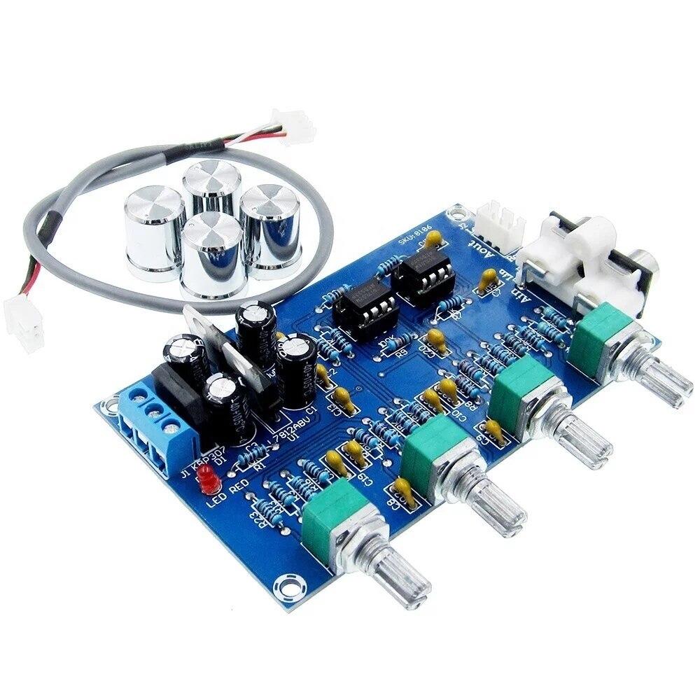 Placa de preamplificador de tono NE5532 ecualizador de Audio preamplificador de Control de tono preamplificador