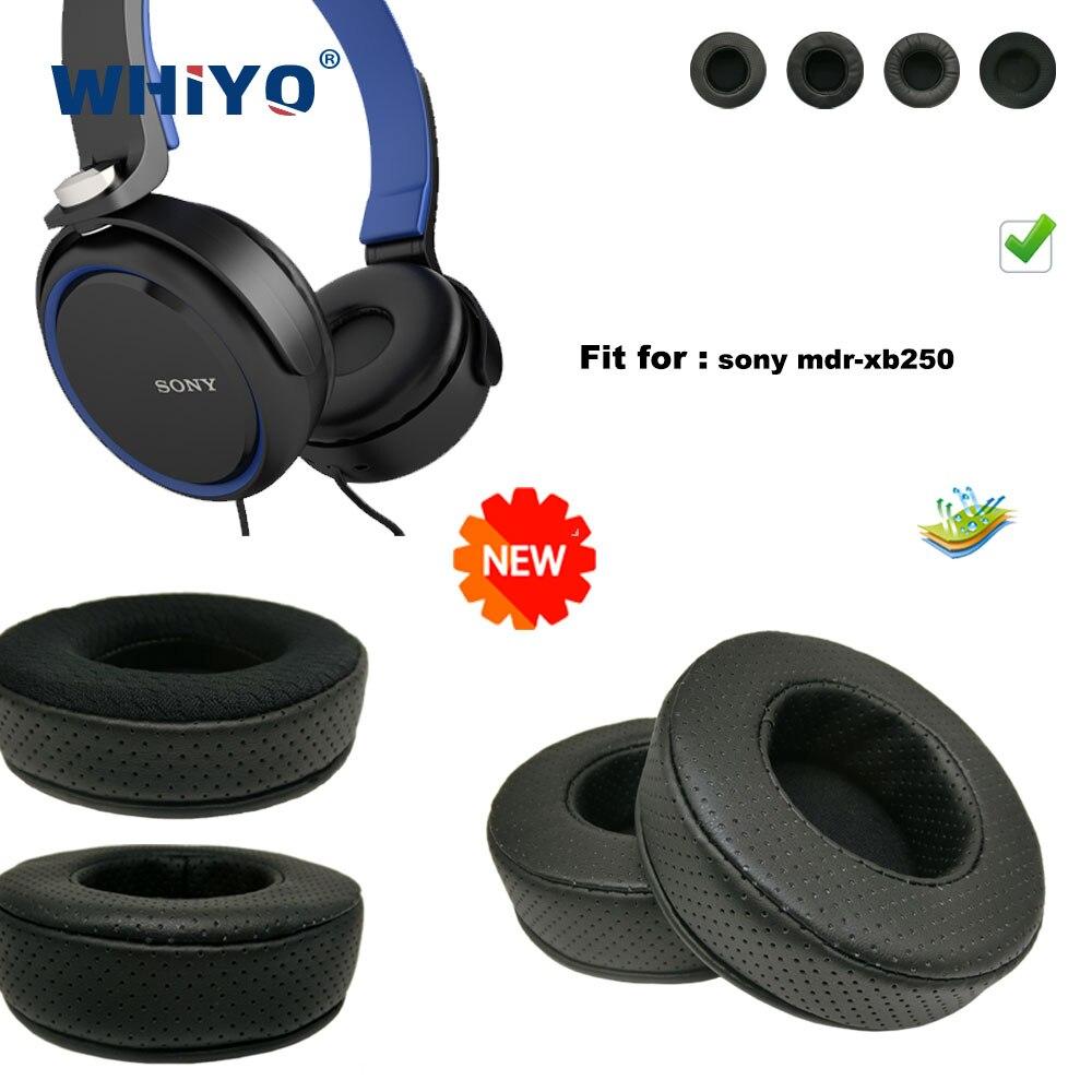 Новые обновленные Сменные амбушюры для наушников Sony MDR-xb250, детали для гарнитуры, Кожаная подушка, бархатные амбушюры, чехол для гарнитуры