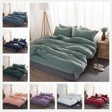 بلون 3/4 Pcs طقم سرير ستوكات أغطية البحرية الأزرق رمادي بياضات سرير لحاف مجموعة غطاء غطاء سرير الملك الملكة حجم