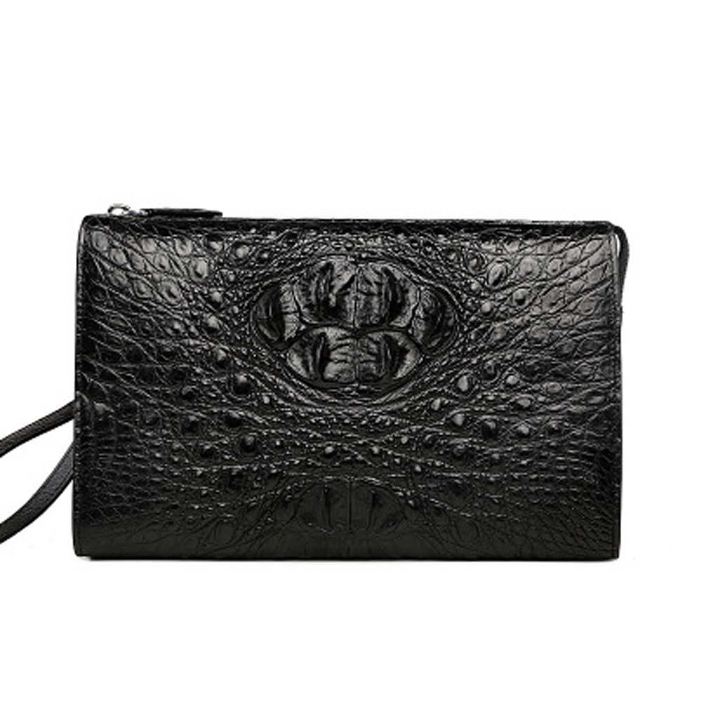 xingmengda new crocodile  handbags  leisure  Men clutch bags  Hand caught  zipper  men wallet  male crocodile bag