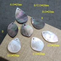 natural black shell mother of pearl horse eye shape drop jewellery making diy necklaces hair clip earrings accessories 5pcsbag