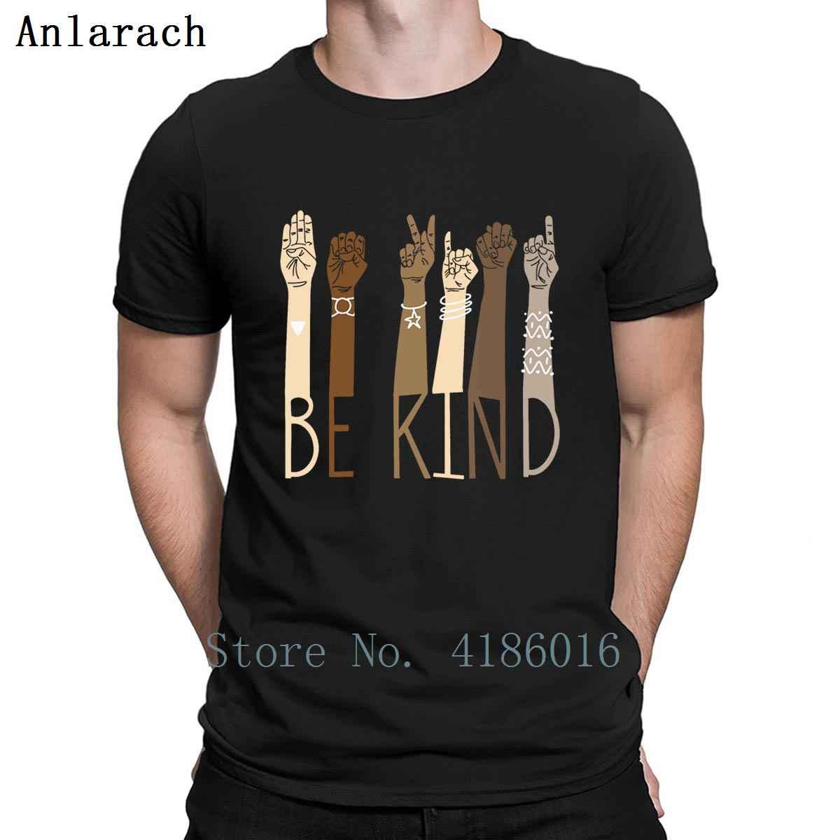 Teachers Be Kind Sign Language Hand T Shirt Crazy Spring Comical Cool S-4XL Tee Shirt Designer Male Shirt