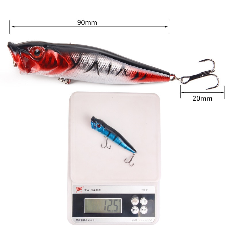 5/8pcs Luya Popper Fishing Lures 9.4/16g 7/13CM Topwater Floating Simulation Baits 3D Fish Swimbait Artificial Spinning Tackle enlarge