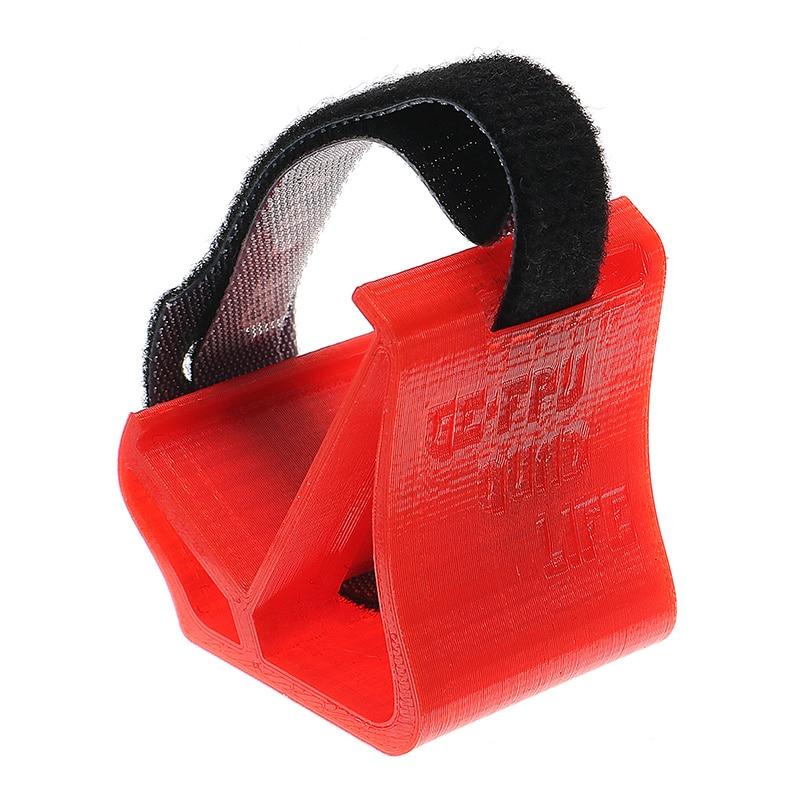 GE-FPV Cámara TPU de Material suave impreso 3D de 30 grados con corbata mágica para Gopro XIAOYI Cámara RC Drone FPV Racing Freestyle