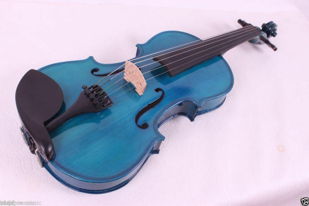 Nova 5 Corda Elétrica Acústica do Violino 4/4 Todas As Peças Incluem Caso Arco de Violino Azul