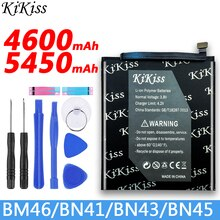 Free tool+ KiKiss BN41 BN43 BN45 BM46 Battery For Xiaomi Redmi Note 3 /3 pro / 4 / 5 / 4X / 4X Pro Lithium Polymer Bateria