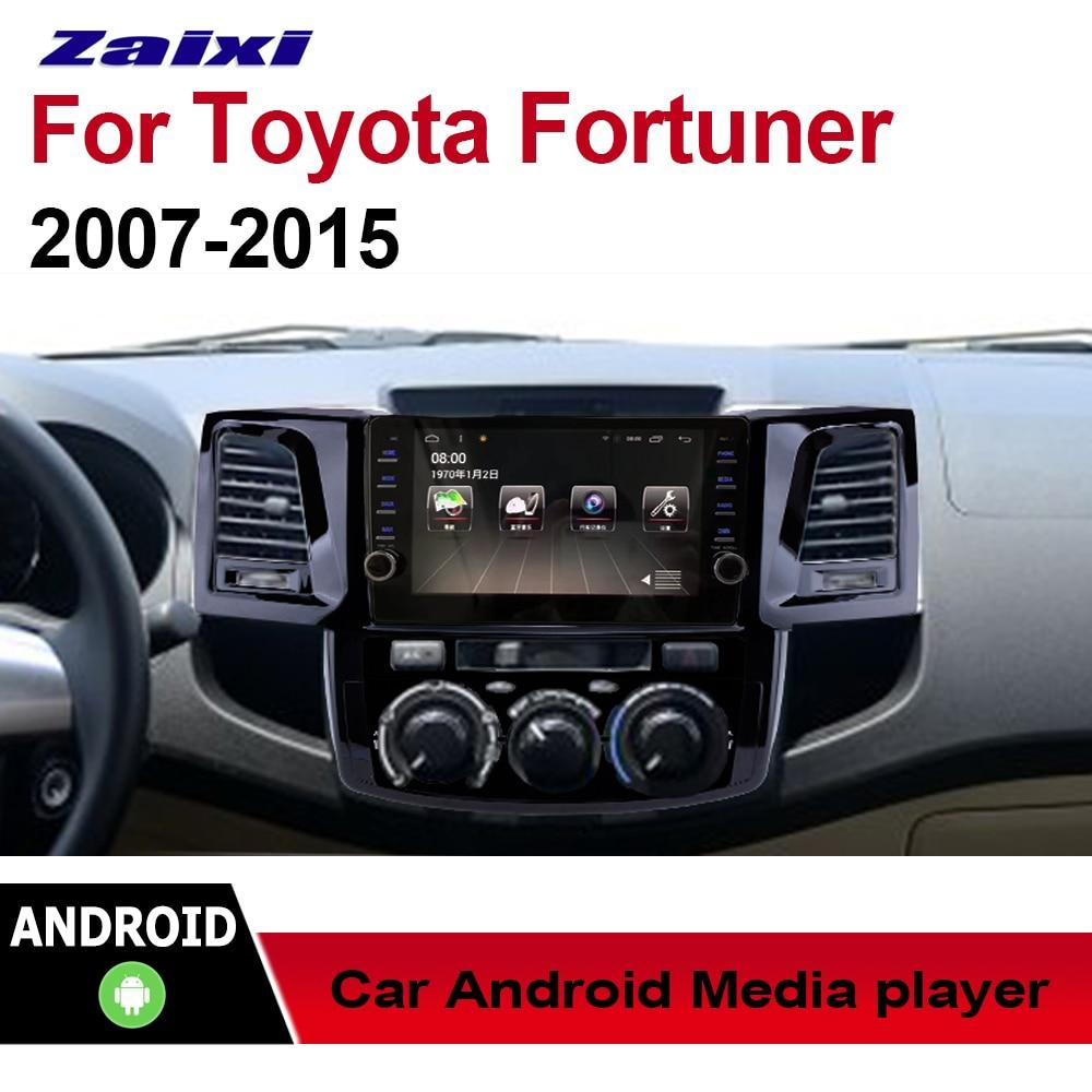 ZaiXi-Radio stéréo multimédia Toyota   Voiture, Android GPS, Audio, pour Toyota Fortuner, 2007 ~ 2015 de Style Original, Navigation, NAVI BT