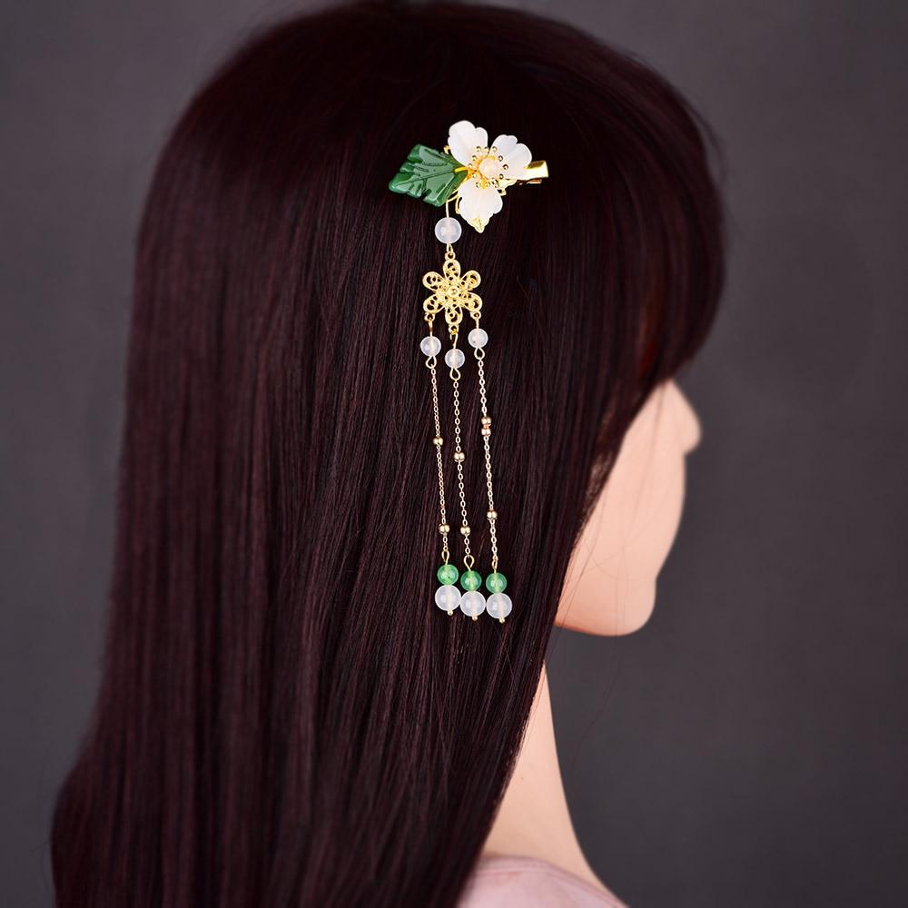 Estilo chinês antigo retro fada hairpin clipe hanfu borla headdress princesa passo shake hairpin para mulheres festa jóias presente