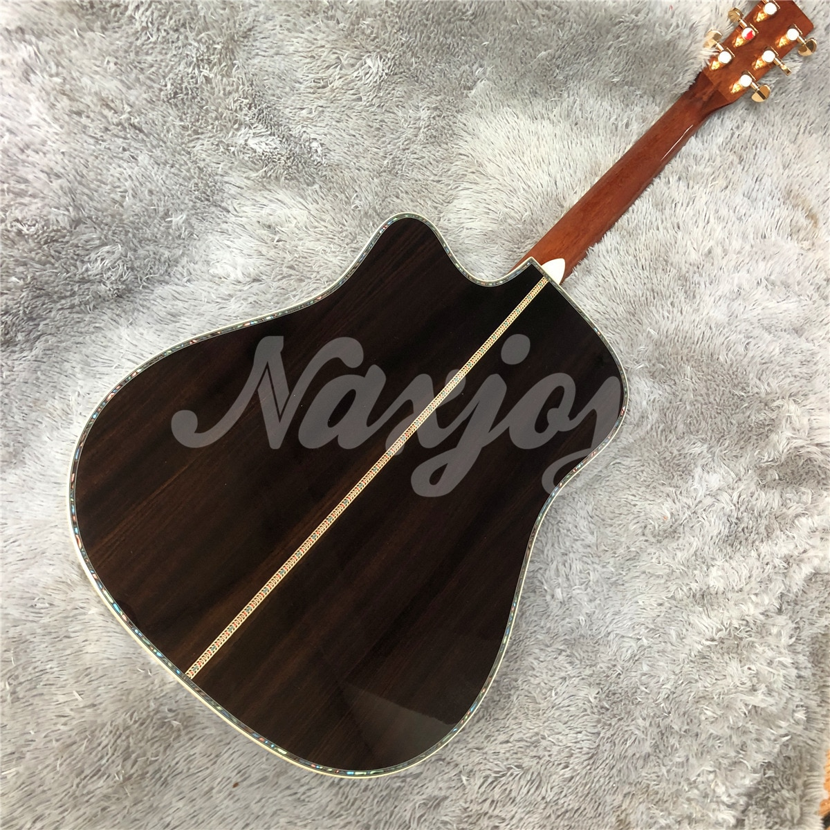 High Quality 41 Inches D Style Solid Cedar Top Acoustic Guitar with Cutaway Rosewood Body enlarge