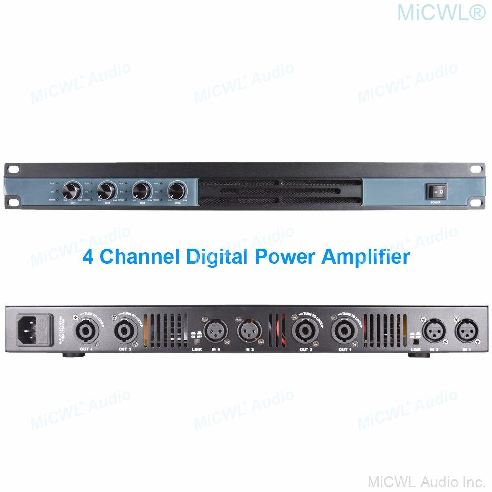 MiCWL-مضخم طاقة رقمي 4 قنوات ، 2600 واط ، 8303 ، 2600 واط ، صوت ، ميكروفونات XLR ، مضخم طاقة ، مفتاح مستوى الصوت