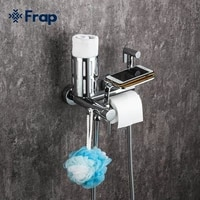 frap chrome wall mounted bidet faucets toilet sprayer toilet with hanheld multifunction toilet washer mixer muslim shower f7513