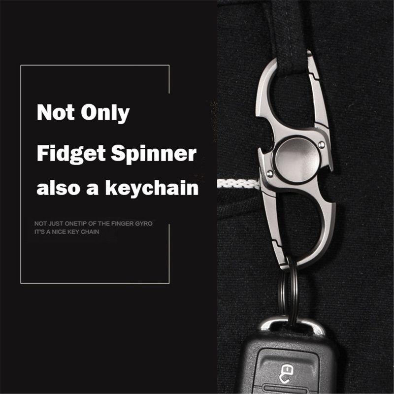 Finger Spinner Fidget Hand Spinner Anti-Anxiety Toy Relieves Stress Finger Spinner Ketchain Bottle Opener EDC Adult Kids boy Toy enlarge