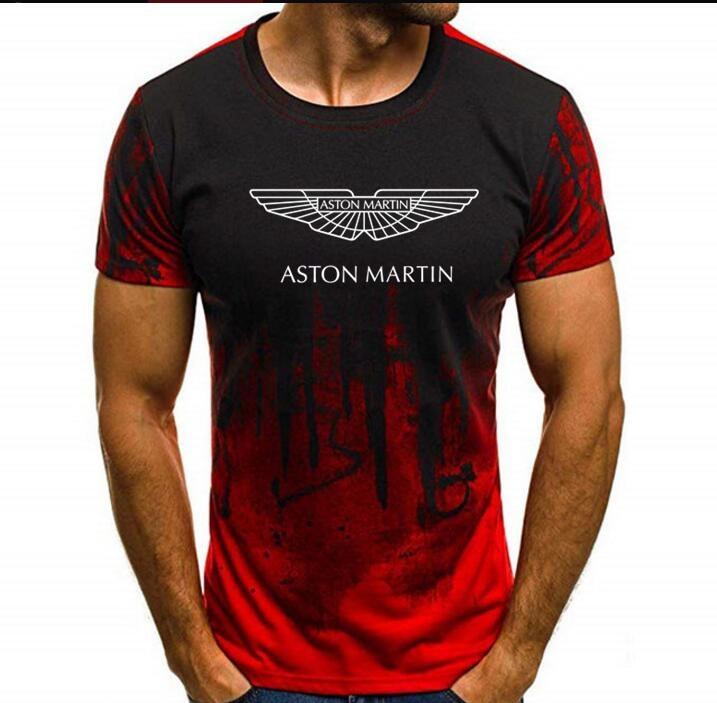 NOVEDAD DE VERANO 2019, marca Aston Martin, camiseta de camuflaje para hombre, camisetas de camuflaje de algodón de manga L, camisetas ghee3